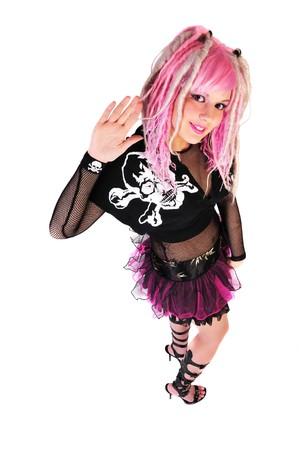 punk girl fashion statement Banco de Imagens