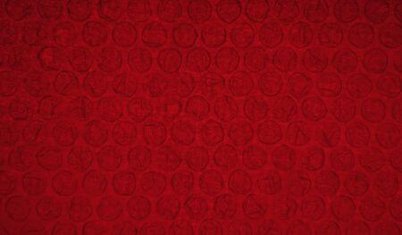 red bubblewrap texture background