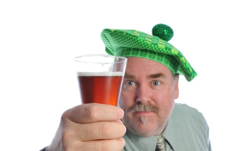 man in a hat holding a beer Stock Photo - 4319746