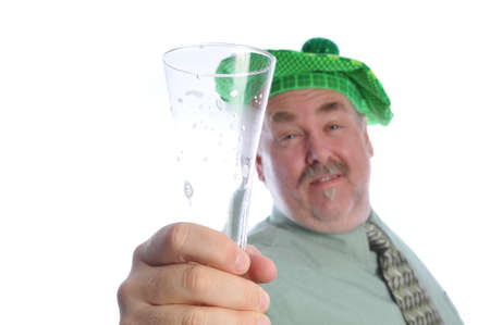 man finishes his beer on st patties day Stock Photo - 4346906