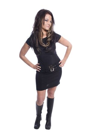 sexy young woman in a little black dress Stock Photo - 4857664