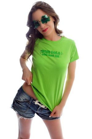 attractive young woman all dressed up for st patties day Stock Photo - 6442833