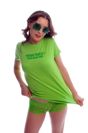 attractive young woman all dressed up for st patties day Stock Photo - 6442830