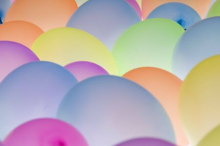 backlite: abstract texture background of backlite colorful ballons in different sizes Stock Photo