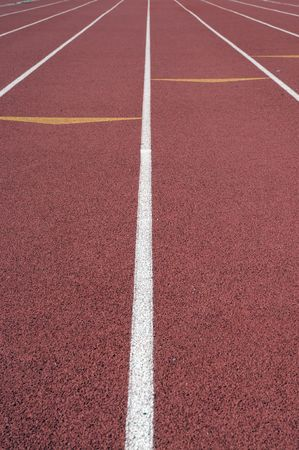 Track and Field running lanes and arrow markers