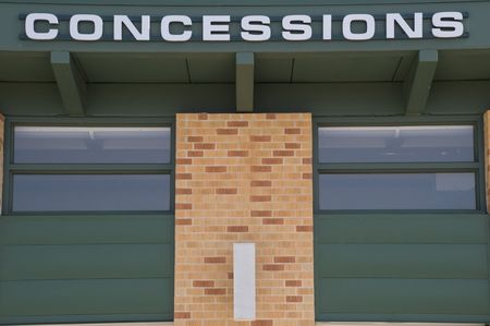 sport stadium concession stand sign