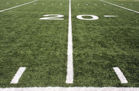 american football field Stock Photo