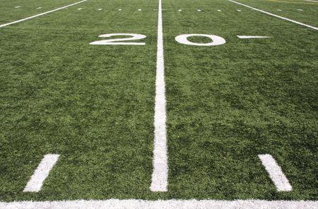american football field Banco de Imagens