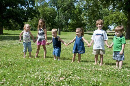 kids having summer fun outdoors at the park