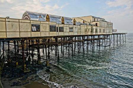 stilts: historic pier with amusement theater built on stilts