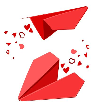 heart with wings: St  Valentine s Day paperplanes