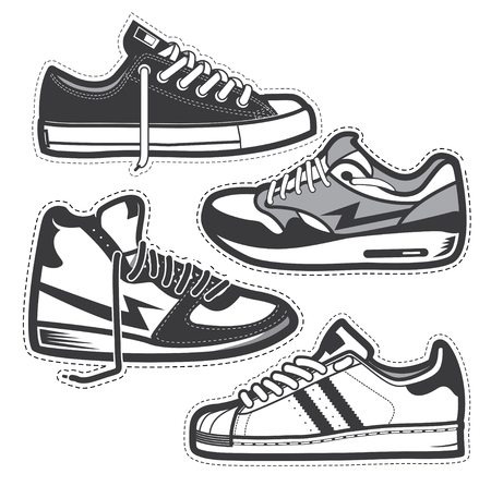 Classic sneakers set