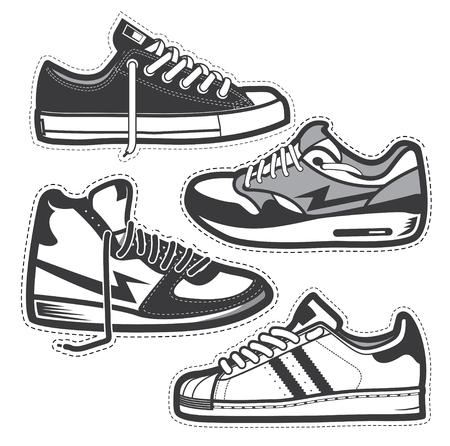 Classic sneakers set