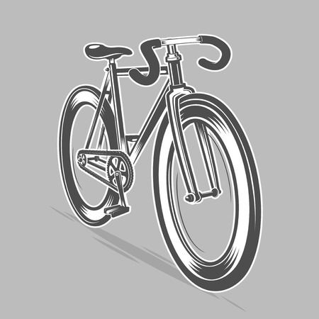 Fixed gear bike in move. Vector