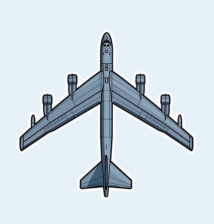 forces: Air forces. Strategic bomber Vector illustration