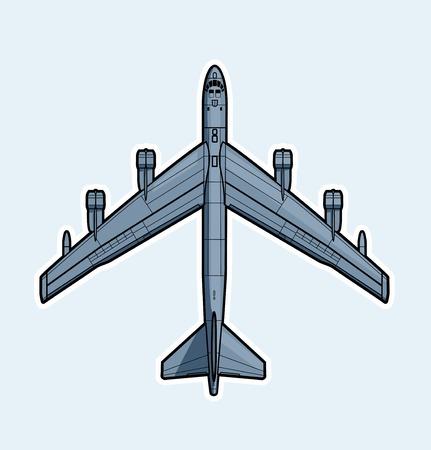 Air forces. Strategic bomber Vector illustration