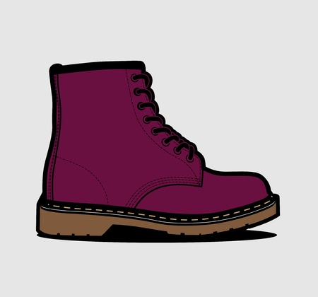 Industrial and streetwear workers boots. Vector