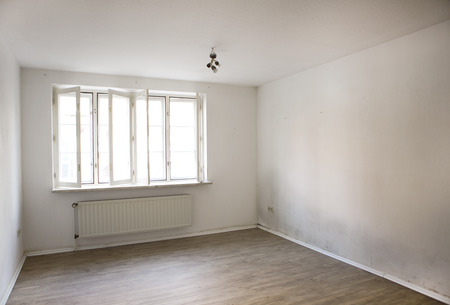 an apartment with wet walls on which mould forming