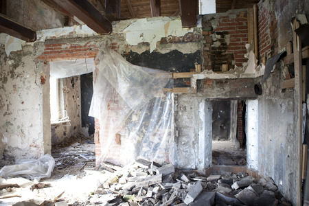 a house in need of renovation from the inside