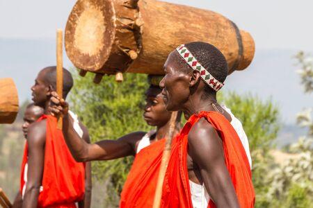 Burundi drummers in Africa