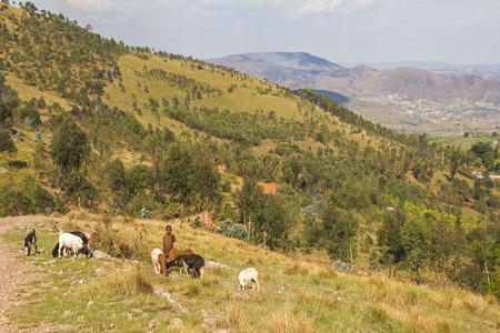 landscape Burundi nil spring Stock Photo