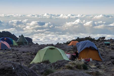 Kilimanjaro Barranco Camp 스톡 콘텐츠