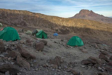 kilimanjaro: Barafu Camp Kilimanjaro Stock Photo