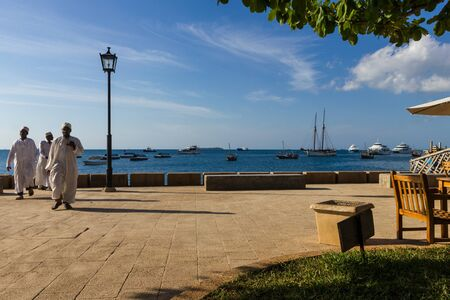 zanzibar: Zanzibar Island Tanzania Stone Town Waterfront Stock Photo