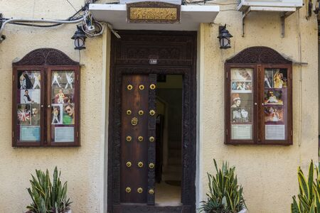 birthplace: Freddie Mercury Birthplace in Stone Town Stock Photo