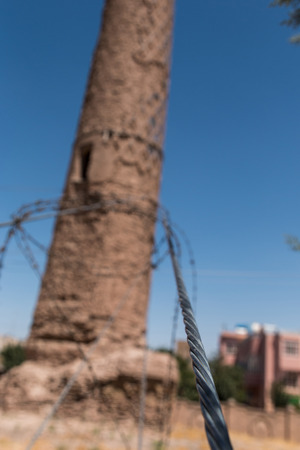 minarets: Afghanistan Herat the mousallah complex minarets Stock Photo