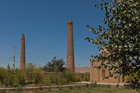 afghanistan: Afghanistan Herat the mousallah complex minarets Stock Photo