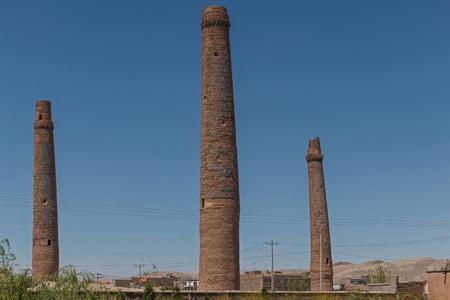 minarets: Afghanistan Herat the mousallah complex minarets Stock Photo