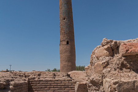 minaret: Herat - the Musalla minaret Stock Photo