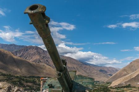 cannon gun: Military scrap soviet war - Afghanistan Panjshir Valley