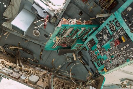 military helicopter scrap inside - afghanistan