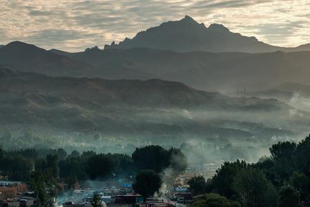 taliban: Bamyan valley sunrice - afghanistan Stock Photo
