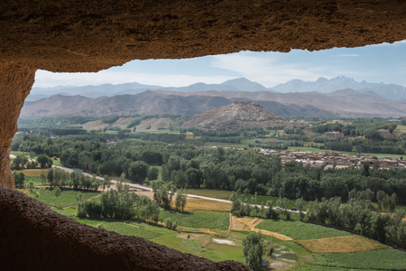 taliban: view of bamiyan valley - afghanistan Stock Photo