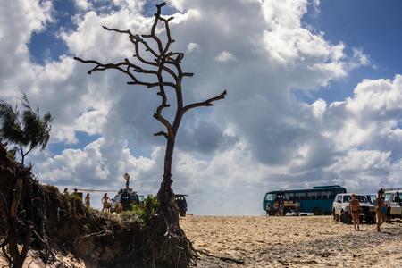fraser: Rainbow beach - fraser island, australia Stock Photo