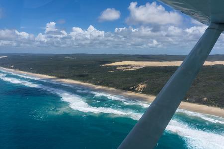 Flight over fraser island, queensland, australia Stock Photo