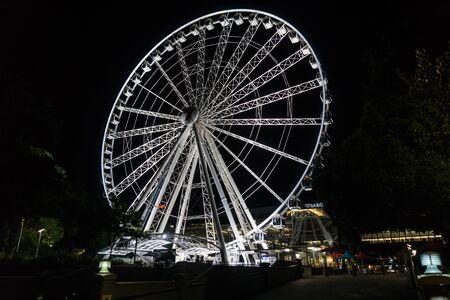 The Wheel of Brisbane at night, Southbank, Brisbane, Australia