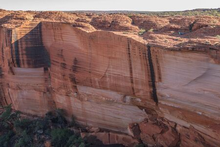 Landscape of the Kings Canyon, Outback of Australia