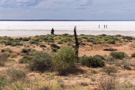 Salt lake in the outback, Australia Standard-Bild