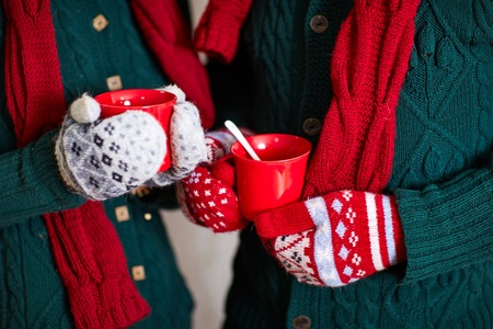 mittens: Christmas mittens , cozy warm holiday with loved ones