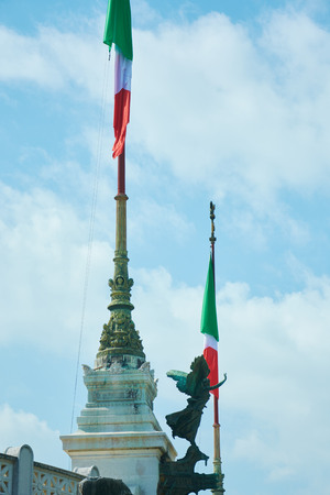 king neptune: Italy, Piazza Venezia, in the afternoon in March