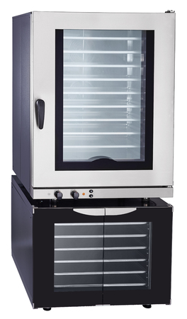 gas stove: Modern luxury hi-tech Combi steamer and Proofer Stock Photo