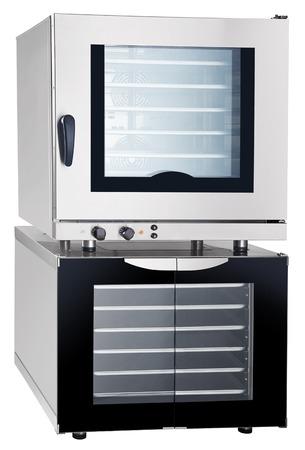 gas stove: Modern luxury hi-tek Combi steamer and Proofer Stock Photo