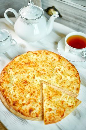 bakery products: Ajarian traditional flatbread - khachapuri or hachapuri jpg