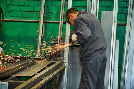 manufacture of steel doors, welding of metal doors, production