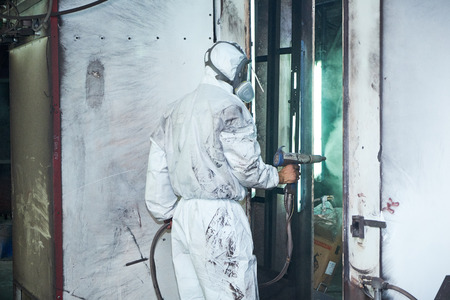 painting the door, the production of metal doors