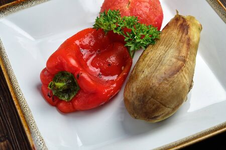 Grilled vegetables. catering menu 写真素材